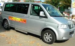 Taxi Bus Außenansicht