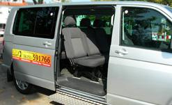 Taxi Bus Innenansicht